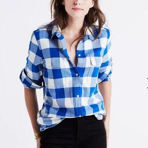 Madewell Flannel Classic Ex-Boyfriend Shirt Buffalo Check size S Small